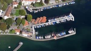 Der LSC Hafen aus der Luft Foto Breyer