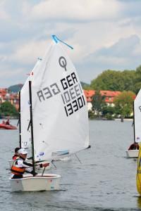 Der Sieger im Opti A: Valentin Brückmann (SGÜ). Foto Diederich