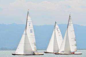 L-Boote und 45qm Nationale Kreuzer. Foto Christa Diederich